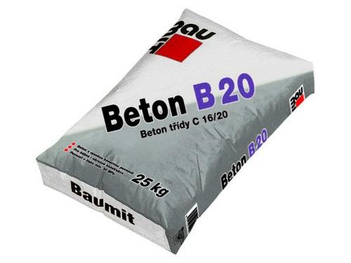 BAUMIT beton B20 25kg konstrukční tř.C16/20