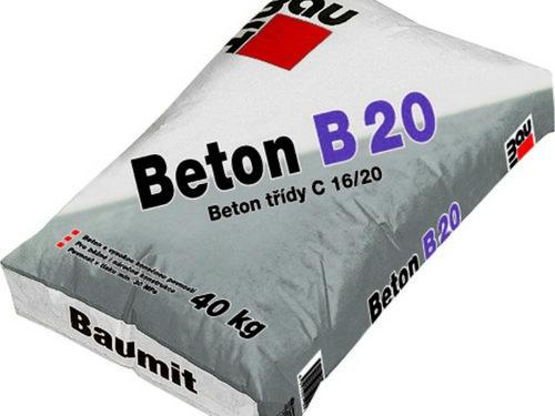 BAUMIT beton B20 40kg konstrukční tř. C16/20
