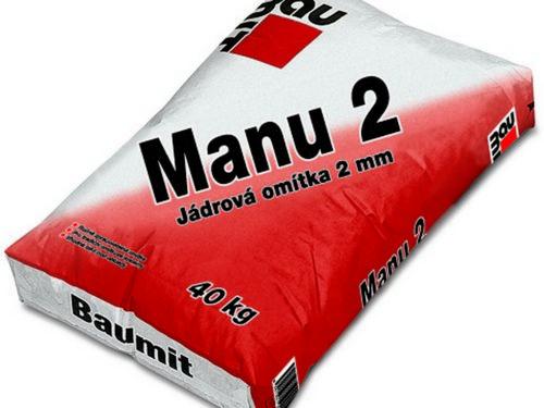 BAUMIT omítka Manu 2 40kg jádrová 2mm