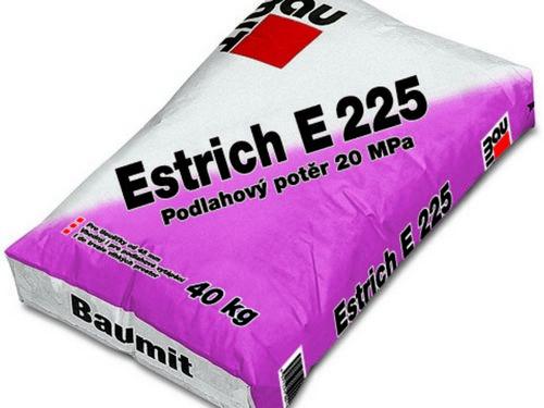 BAUMIT potěr E225-20 40kg cementový 4mm